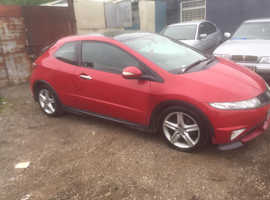 Honda Civic, 2009 (58) Red Hatchback, Manual Diesel, 151,000 miles