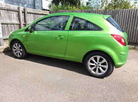 Vauxhall Corsa, 2012 (62) Green Hatchback, Manual Petrol, 34,500 miles
