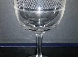 Victorian wine glass 1890s