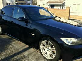 BMW 3 Series, 2008 (58) Black Saloon, Manual Diesel, 73,600 miles