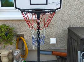Kids portable basketball stand with ball