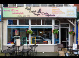 Busy high street cafe lease for sale