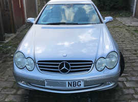 Mercedes Clk, 2003 (53) Silver Coupe, Automatic Petrol, 97,450 miles
