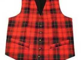 Pure Wool Tartan Waistcoat – Adults