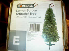 HOMEBASE 160cm/6ft 'DENVER SPRUCE' CLASSIC DESIGN CHRISTMAS TREE XMAS