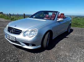 Mercedes Clk, 2008 (08) silver convertible, Automatic Petrol, 87,000 miles