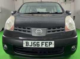 Nissan Note, 2006 (56) Black MPV, Manual Petrol, 71,000 miles