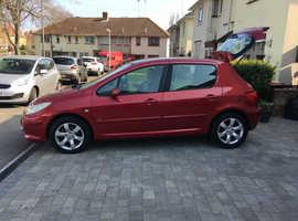Peugeot 307, 2006 (06) Red Hatchback, Manual Petrol, 61,440 miles