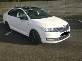 Skoda RAPID SE TSI, 2014 (14) White Hatchback, Manual Petrol, 58,000 miles