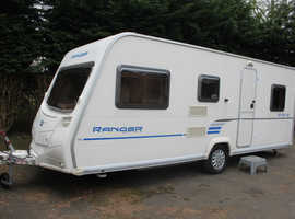 Bailey Ranger 540-6 Series 6 2009 6 Berth Triple Fixed Bunk Beds Caravan + Full Awning + One Owner from New