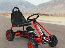 COSTWAY Adjustable Kids Pedal Go Cart Children Outdoor Ride On Racer with Plastic Wheels TY327797