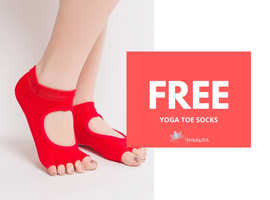 Free yoga toe socks
