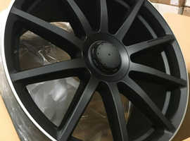 """** PRICE REDUCTION** x4 20"""" S63 Style Alloy Wheels Matt Black Staggered Merecedes S, CLS, Audi A5 A6 A7 A8"""