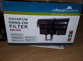 Outside filter for fish tank