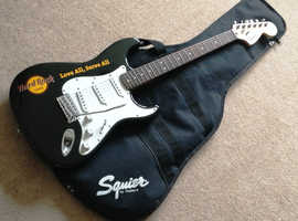 Rare Squier Hard Rock Cafe Stratocaster electric guitar