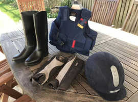 Selection of horse riding equipment