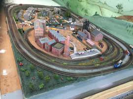 Model railway layout N gauge