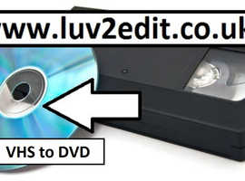 VHS to DVD, We Save All Your Home Videos To Digital, Forever, In Essex