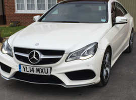 Mercedes E Class, 2014 (14) White Coupe, Automatic Diesel, 38,000 miles