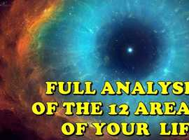 I WILL DO A FULL ANALYSIS AND DETAILED OF 12 AREAS OF YOUR LIFE