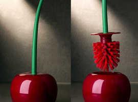 Creative Cherry Shape Toilet Brush Lovely Cleaning Brush Dusty Brush Cleaning Tool For Toilet