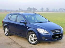 Kia Ceed, 2008 (08) Blue Estate, Manual Diesel, 138,000 miles