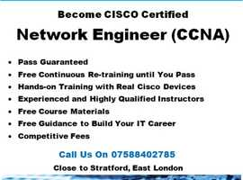 CCNA CCNP Pass Guaranteed, Hands-on Training, Free Re-training