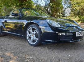 Porsche Boxster, 2006 (56) Black Convertible, 2.7L, Manual Petrol, 84,000 miles