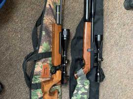 2 x .177 gas powered air rifles