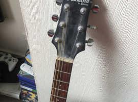 Acoustic guitar black