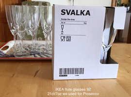 Flute glasses IKEA Champagne Prosecco 92 for sale
