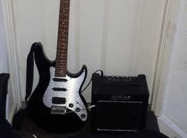 Ashton Electric Guitar And Amp.
