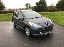 Peugeot 207, 2008 (08) Grey Estate, Manual Diesel, 100,000 miles