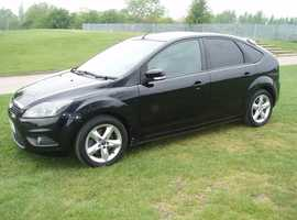 (NEWER SHAPE 97k FSH) FORD FOCUS 1.8 ZETEC TURBO DIESEL 5 DOOR HATCHBACK BLACK 12 MONTHS MOT 2008 08 REG BARGAIN £1499