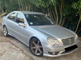 Mercedes C CLASS, 2005 (55) Silver Saloon, Automatic Petrol, 81,632 miles