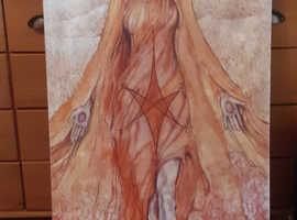 "Canvas print of the Tarot card ""star."""