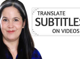 I will add english or spanish or arabic subtitles to any video