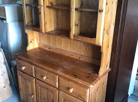 Wooden dresser with back lighting