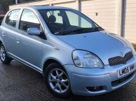 Toyota Yaris, 2005 (05) Blue Hatchback, Automatic Petrol, 96,450 miles