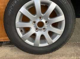 VW alloy wheel and tyre