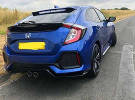 Honda Civic, 2018 (18) Blue Hatchback, Manual Petrol, 8,500 miles