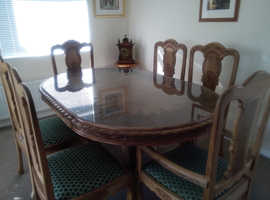 Solid walnut table & 6chairs