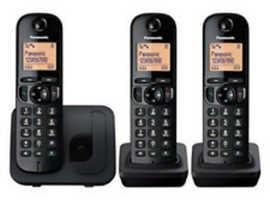 Panasonic Cordless Trio Phone With Answering Machine Black KX-TGC220EB