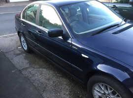 BMW 3 Series, 2002 (02) Blue Saloon, Manual Petrol, 119,634 miles