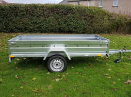 BRAND NEW SINGLE AXLE TRAILER- BOX TRAILER- CAMPING TRAILER FLAT TIPPING 8.7x4.2