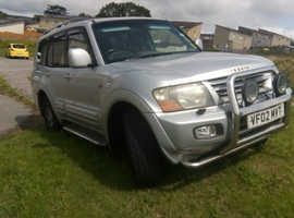 Mitsubishi Shogun, 2002 (02) Silver Estate, Automatic Diesel, 203,000 miles