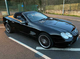 Mercedes SL, 2004 (04) black convertible, Automatic Petrol, 106,457 miles