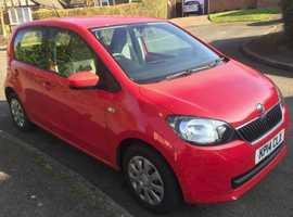 Skoda Citigo, 2014 (14) Red Hatchback, Manual Petrol, 27,227 miles