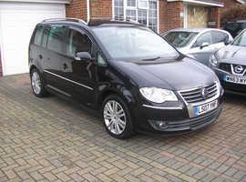 (2007) VW TOURAN 2.0 TDI (170) DSG AUTO MET/BLACK (98000 MILES FSH IMMACULATE)