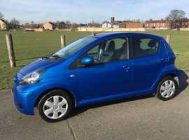 Toyota Aygo, 2010 (60) Blue Hatchback, Manual Petrol, 29,000 miles. MOT November. 2 owners from new.